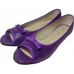 Chatitas abiertas de cabritilla ovalitos violeta