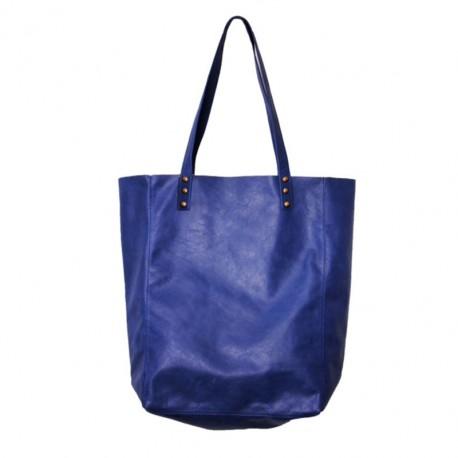 Shopping Bag de cuero vacuno Azul