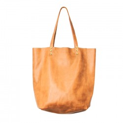 Shopping Bag de cuero vacuno camel