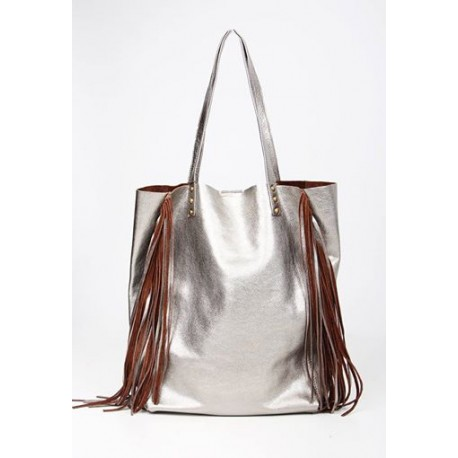 Shopping bag con flecos