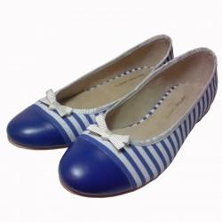 Chatitas rayadas azul francia y blanco