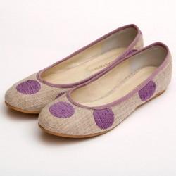 Chatitas de género de lunares lilas