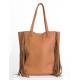 Shopping Bag de cuero suela con flecos