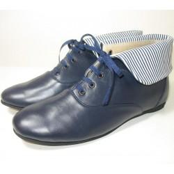 Botas de cuero azul