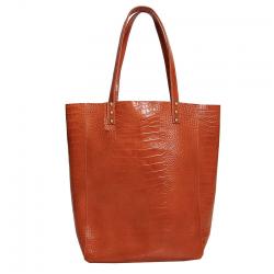 Shopping Bag de cuero charol suela