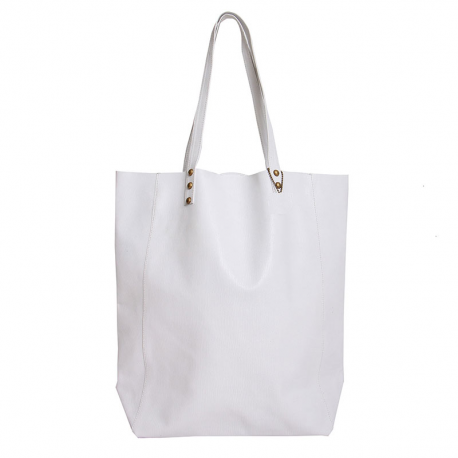 Shopping Bag de cuero vacuno beige claro