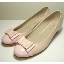 Chatitas de cuero rosa pálido