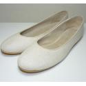 Chatitas de loneta lurex crudo con brillo plateado (material disponible actualmente con brillo dorado)