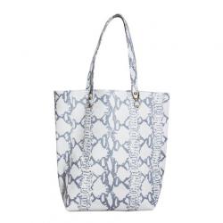 Shopping Bag de cuero boa tiza