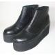 Botas de cuero croco negro
