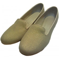 Mocasines de loneta lurex