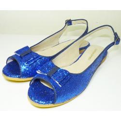 Chatitas abiertas de glitter azul