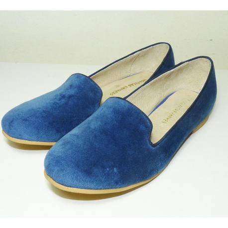 Mocasines de pana azul
