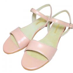 Sandalias de cuero rosa