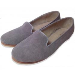 Mocasines de pana gris
