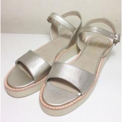 Sandalias de sintético platino
