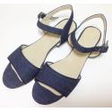 Sandalias de jean con taco cuadrado