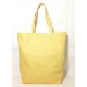 Shopping Bag de cuero amarillo