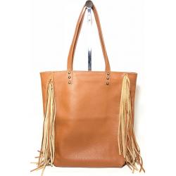 Shopping Bag de cuero con flecos