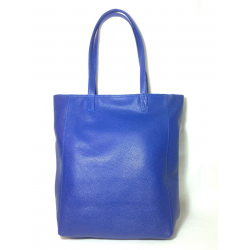 Shopping bag de cuero azul