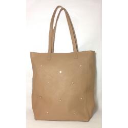 Shopping Bag de cuero con estrellas