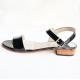 Sandalias rectas con taco cuadrado