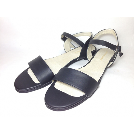 Sandalias de sintético negro liso