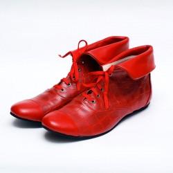 Botas de sintético croco colorado